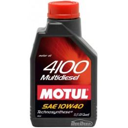 Моторное масло Motul 4100 Multidiesel 10w-40 381001/102812 1 л