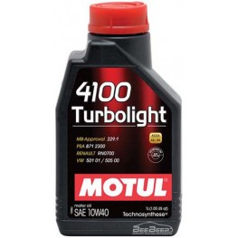 Моторное масло Motul 4100 Turbolight 10w-40 387601/102774 1 л