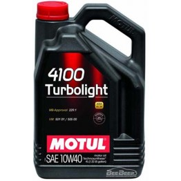 Моторное масло Motul 4100 Turbolight 10w-40 387607/100355 4 л