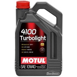 Моторное масло Motul 4100 Turbolight 10w-40 387606/100357 5 л