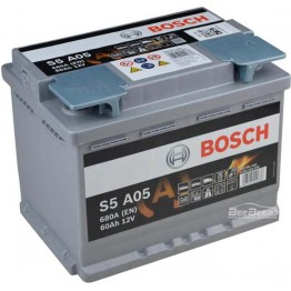 Аккумулятор автомобильный Bosch S5 AGM 60Ah START-STOP (0 092 S5A 050)