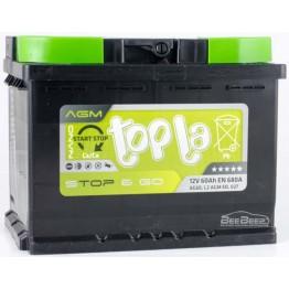 Аккумулятор автомобильный Topla AGM 60Ah START-STOP R+