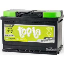 Аккумулятор автомобильный Topla AGM 70Ah START-STOP R+