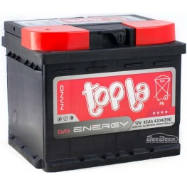 Аккумулятор автомобильный Topla Energy 45Ah L+