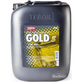 Моторное масло Teboil Gold S 5W-40 20 л