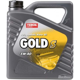 Моторное масло Teboil Gold S 5W-40 4 л