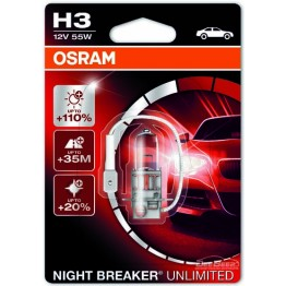 Лампа галогенная H3 Osram Night Breaker Unlimited 64151NBU (блистер)