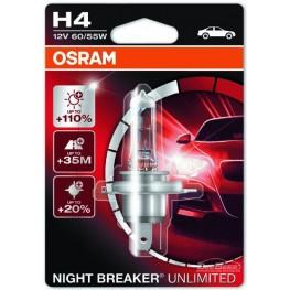 Лампа галогенная H4 Osram Night Breaker Unlimited 64193NBU (блистер)