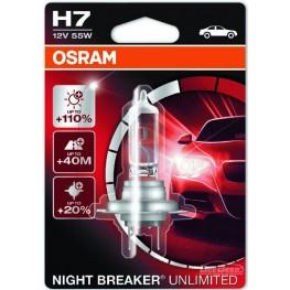 Лампа галогенная H7 Osram Night Breaker Unlimited 64210NBU (блистер)