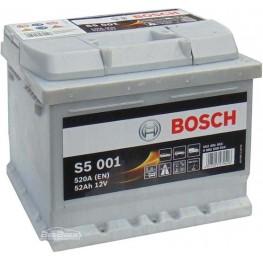 Аккумулятор автомобильный Bosch S5 Silver Plus 52Ah (0 092 S50 010)