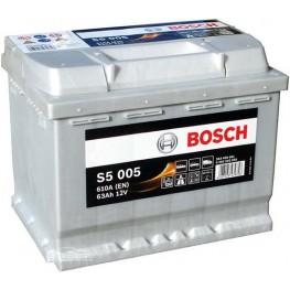 Аккумулятор автомобильный Bosch S5 Silver Plus 63Ah (0 092 S50 050)