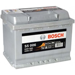 Аккумулятор автомобильный Bosch S5 Silver Plus 63Ah (0 092 S50 060)