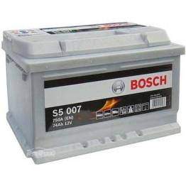 Аккумулятор автомобильный Bosch S5 Silver Plus 74Ah (0 092 S50 070)
