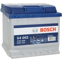 Аккумулятор автомобильный Bosch S4 Silver 52Ah (0 092 S40 020)