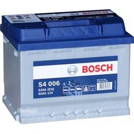 Аккумулятор автомобильный Bosch S4 Silver 60Ah (0 092 S40 060)