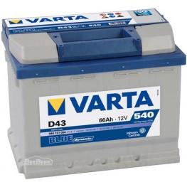 Аккумулятор автомобильный Varta Blue Dynamic 60Ah 560127054 D43