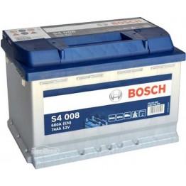 Аккумулятор автомобильный Bosch S4 Silver 74Ah (0 092 S40 080)