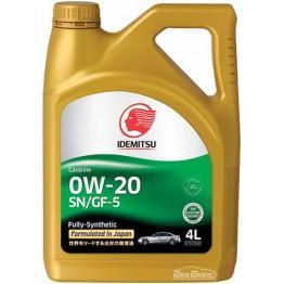 Моторное масло Idemitsu 0w-20 4 л