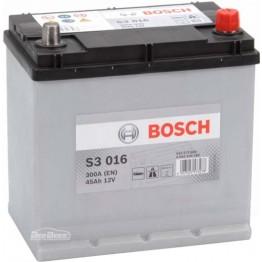 Аккумулятор автомобильный Bosch S3 Asia 45Ah (0 092 S30 160)
