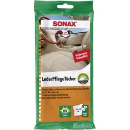 Салфетки для кожи Sonax Leather Care Wipes 415600 10 шт (упаковка)