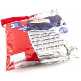 Салфетка ультратонкая из микроволокна для ЛКП набор 3 шт 40х40 см Sonax Microfibre Cloths Ultrafine 450700