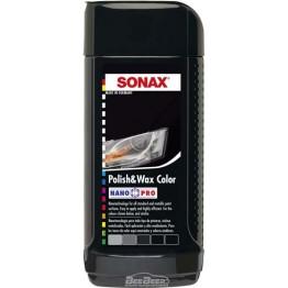 Полироль с воском «Черный» Sonax Polish & Wax Color Black 296141 250 мл