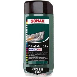 Полироль с воском «Зеленый» Sonax Polish & Wax Color Green 296700 500 мл