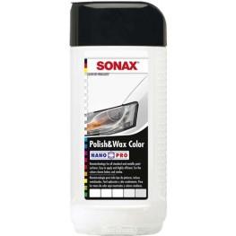 Полироль с воском «Белый» Sonax Polish & Wax Color White 296041 250 мл